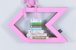 Półka na książki STRZAŁKA | różowy