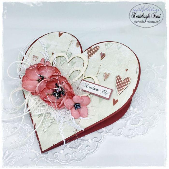 Kartka serce - Kocham Cię