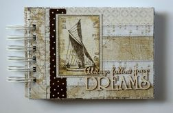 """Notes patchworkowy """"Follow your dreams"""""""