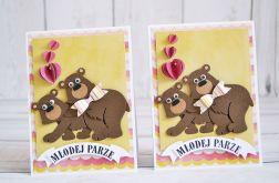 Kartka ślubna z niedźwiadkami