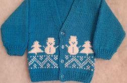 rozpinany sweterek z bałwankiem