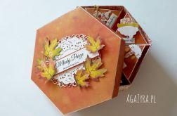 Pudełko bombonierka ślub jesień