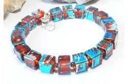 4155 bransoletka szkło modna na prezent