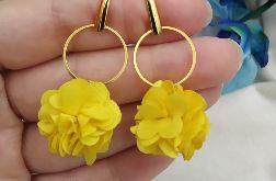 Żółte kolczyki kwiatki wesele ślub na lato