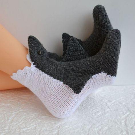Skarpetki rekiny  -zjem Twoje stopy ;)