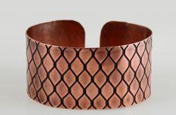 Smocza łuska - miedziana bransoleta 151223-06