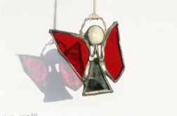 Aniołek lusterkowy w ciemnej czerwieni