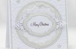 Mieniące się srebro Kartka świąteczna KBN1928