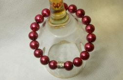 55. Bransoleta z pereł szklanych 10mm