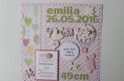 Metryczka Welcome Baby Baloniki