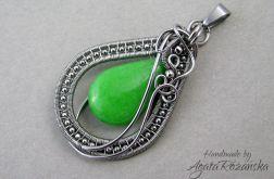 Wisior z Jadeitem zielonym - stal