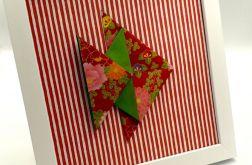 Obrazek origami wiszący lub stojący Ryba