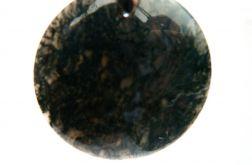 Zielony agat mszysty, wisiorek
