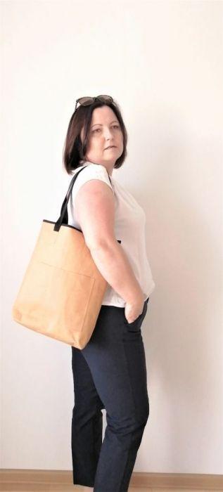 Torba ,torebka damska,na ramię ,kolor brązowy -
