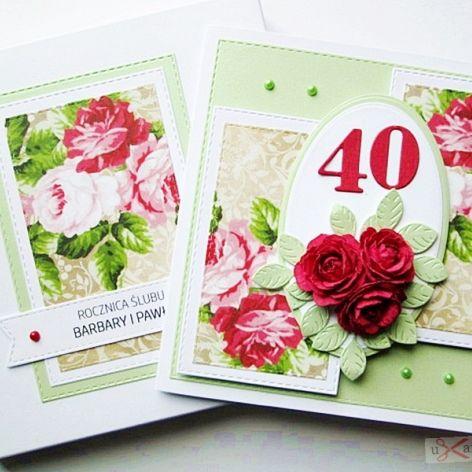 Kartka ROCZNICA ŚLUBU - ciemnoczerwone róże