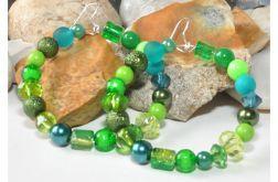4046 kolczyki koła 6 cm zielone