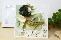 Katka ślubna szmaragdowe kwiaty