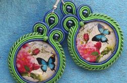 Wiosenne Motyle- kolczyki sutasz