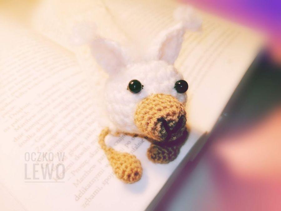 Zakładka do książki - Szydełkowa - Alpaka