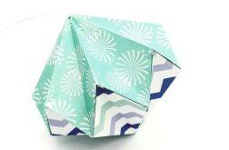 Bombka origami diament z papieru fajerweki