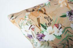 Poszewka dekoracyjna dresowa - sarenki i zające