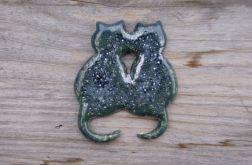 Magnes na lodówkę KOTY srebrny zielony