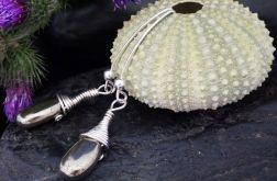 Piryt, srebrne kolczyki z pirytem