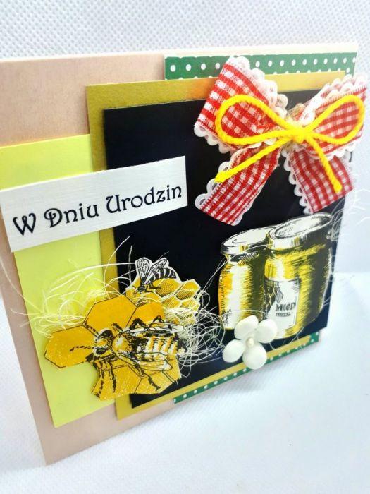 Kartka dla pszczelarza #1 pszczoły miód  - 3