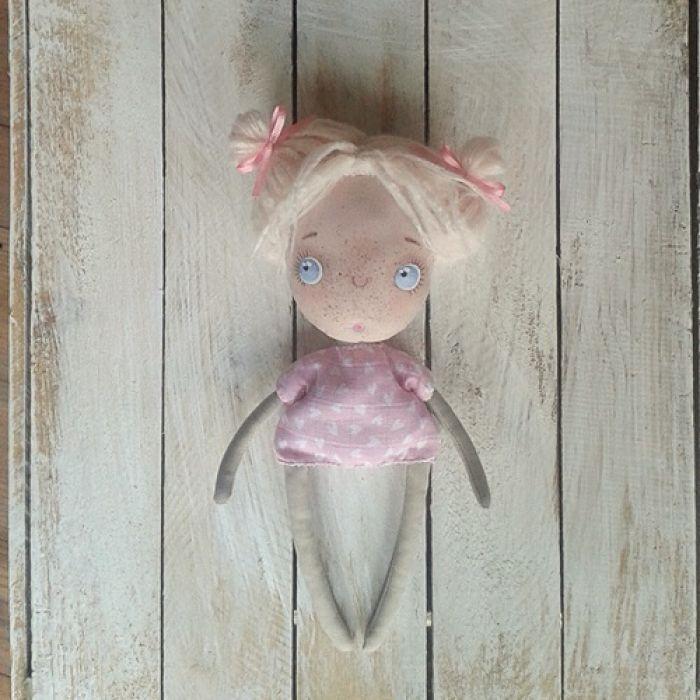 ANIOŁEK lalka tekstylna, cute angel 1, OOAK - niekoniecznie muszę być aniołkiem