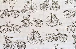 Tkanina bawełna-rowery