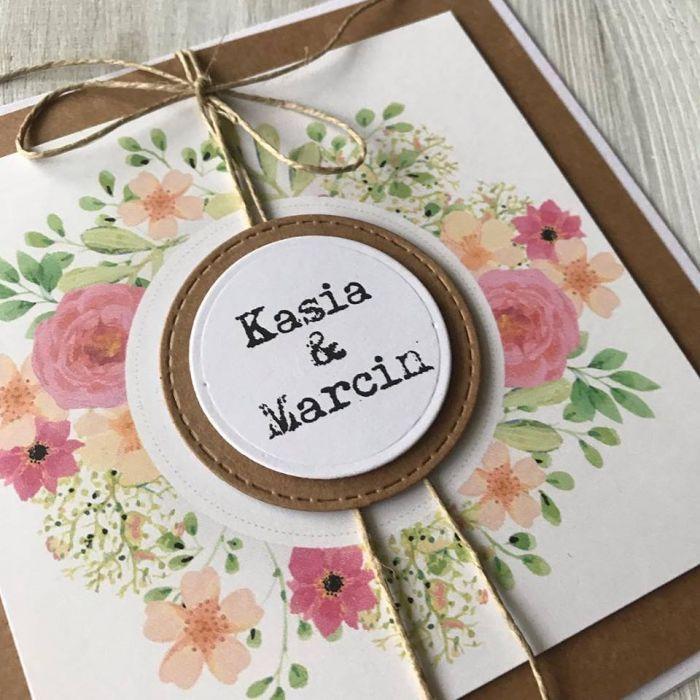 Zaproszenie na ślub- z wiankiem 02