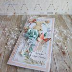 Kartka chrzest narodziny Miś Birdsong3 GOTOWA -