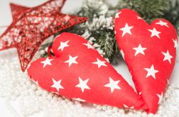 Świąteczne czerwone serduszko na choinkę