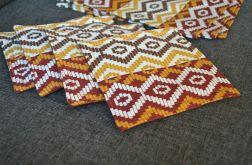 Podkładki pod kubki i talerze - brązowa mozaika