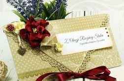 Kartka na rocznicę ślubu-kwiatowy zakątek
