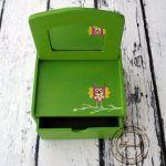 zielona toaletka sowa