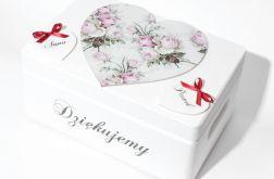 Ślubne pudełko na koperty Serca Czerwone