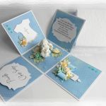 Exploding box niebieski z aniołkiem #2
