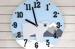 Zegar dla dziecka z misiem polarnym