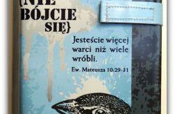 Okładka etui na Biblię nie bójcie się/Warszawska, Tysiąclecia, Edycja św. Paweł, Nowe Przymierze