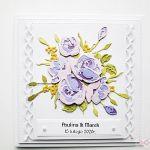Kartka ŚLUBNA z fioletowymi różami - Kartka Ślubna z fioletowymi różami