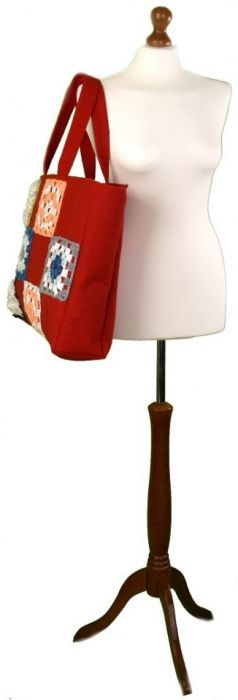SWS TOREBKI Duża torba czerwona patchwork