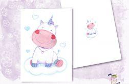 Autorska kartka urodzinowa z Jednorożcem Tedy