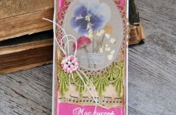 Kartka z suszonymi kwiatami 2