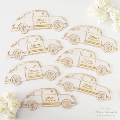 Zaproszenia na roczek - samochodzik