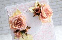 Kwiaty w przydymionym różu, komplet