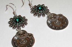 Steampunk z rivoli Swarovskiego Emerald
