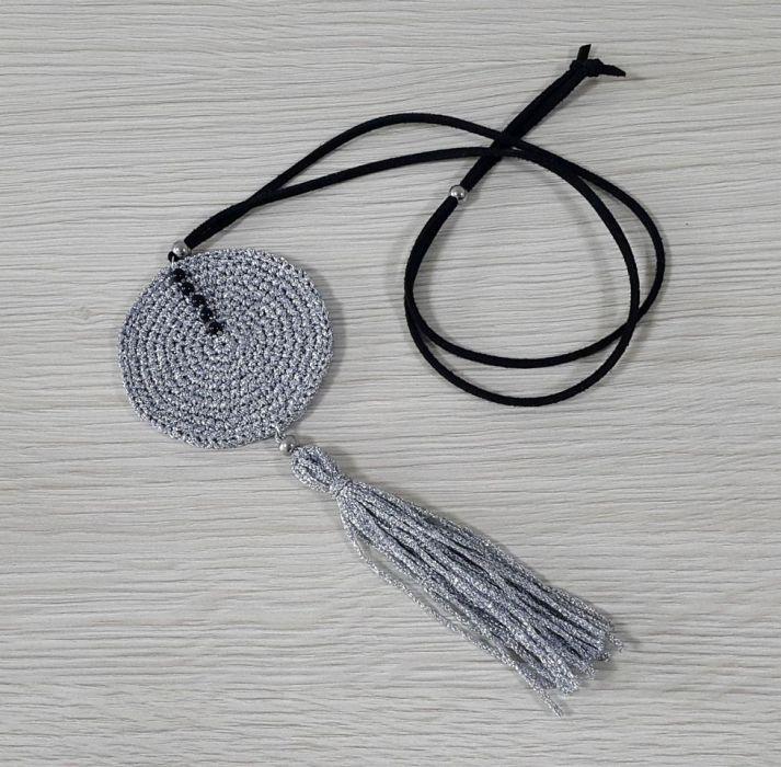 Naszyjnik długi silver circle