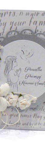 Pamiątka Komunii Świętej Dziewczynki srebrna