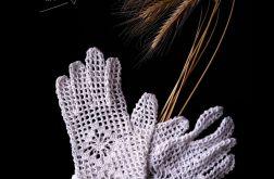 Koronkowe rękawiczki komunijne